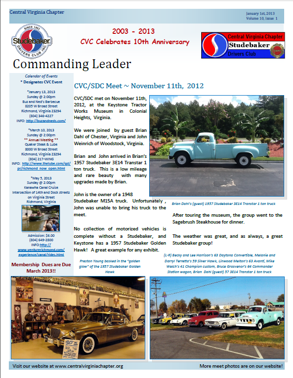 Click to view the April 2013 Issue!