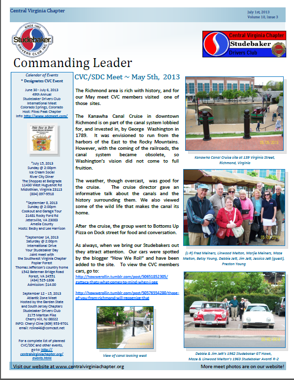 Click to view the July 2013 Issue!