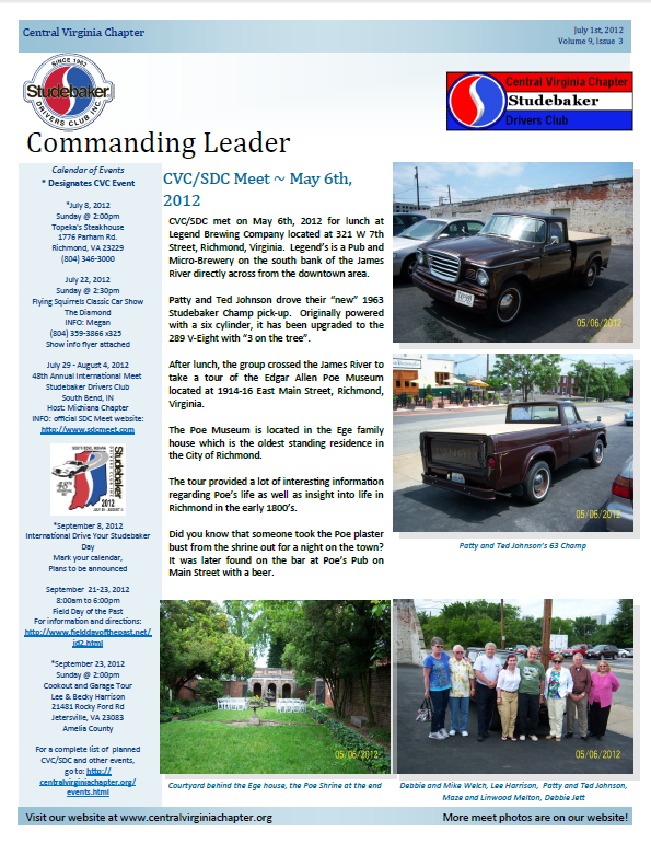 Click to view  the July 2012 Issue!