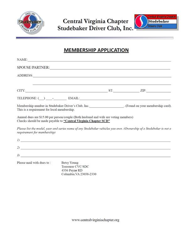 Click here to print membership application
