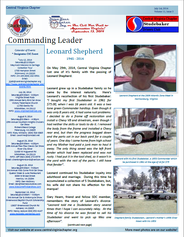 Click to view July 1, 2014 newsletter
