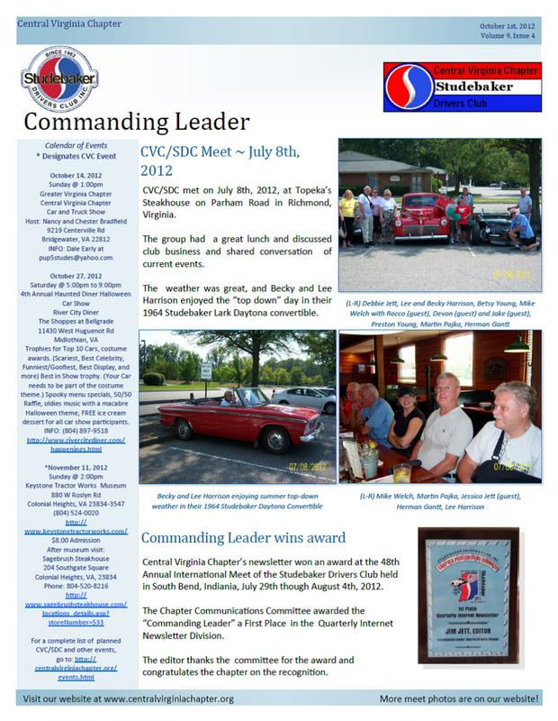 Click to view the October 2012 Issue!