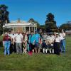 The group at Poplar Forest on IDYSD: (L-R) Betsy Young Willard Hamill, Don Jones, Diana Davis, Lee Harrison, James Marshall, Maze Melton, Linwood Melton, Elaine Handy, Cecil Handy, Phil DeVos, Paul M. Howell, Paul V. Howell, Debbie Jett, Betty Lamons, Jim Jett