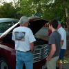 Jim Beadle talking Studebaker trucks with Hunter Sparagna's son and Brian Dahl